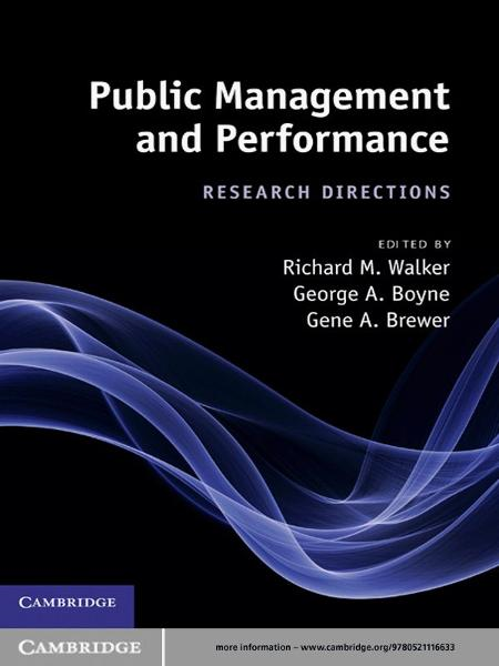 Public Management and Performance By: