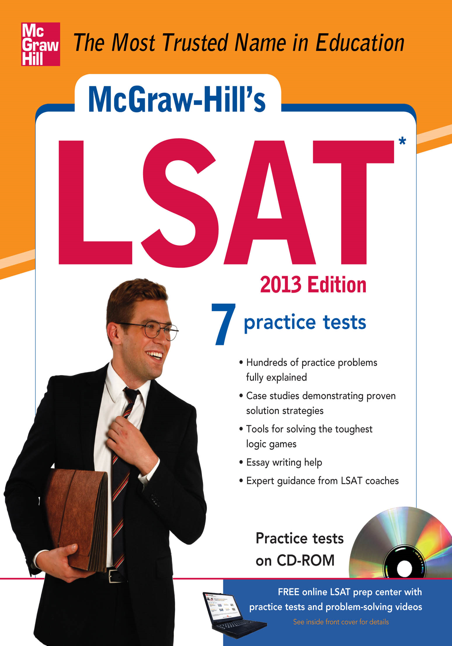 McGraw-Hill's LSAT with CD-ROM, 2013 Edition By:  Drew Johnson,Russ Falconer