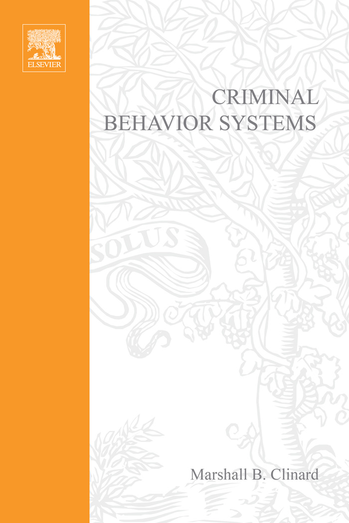 Criminal Behavior Systems