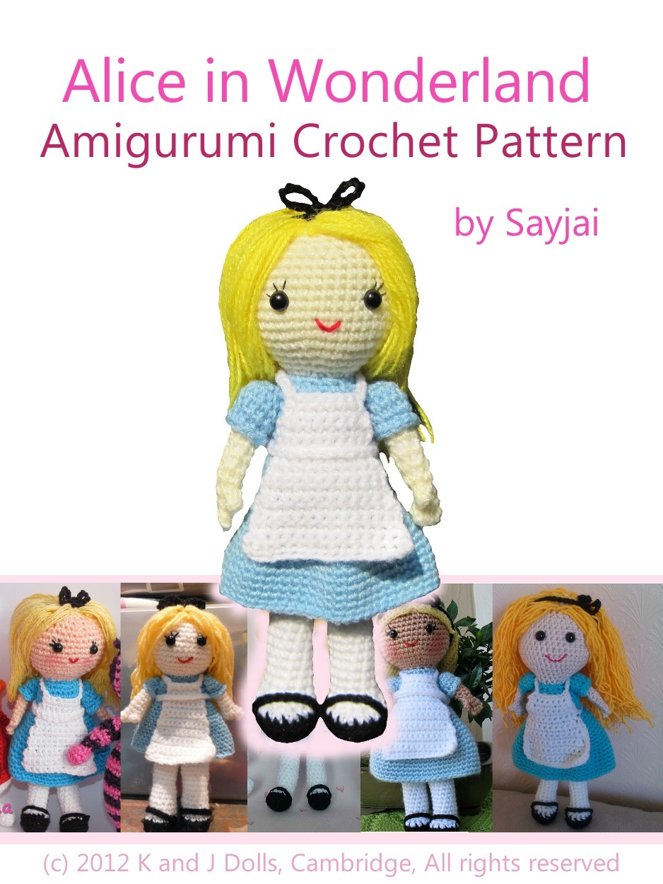 Alice in Wonderland Amigurumi Crochet Pattern By: Sayjai