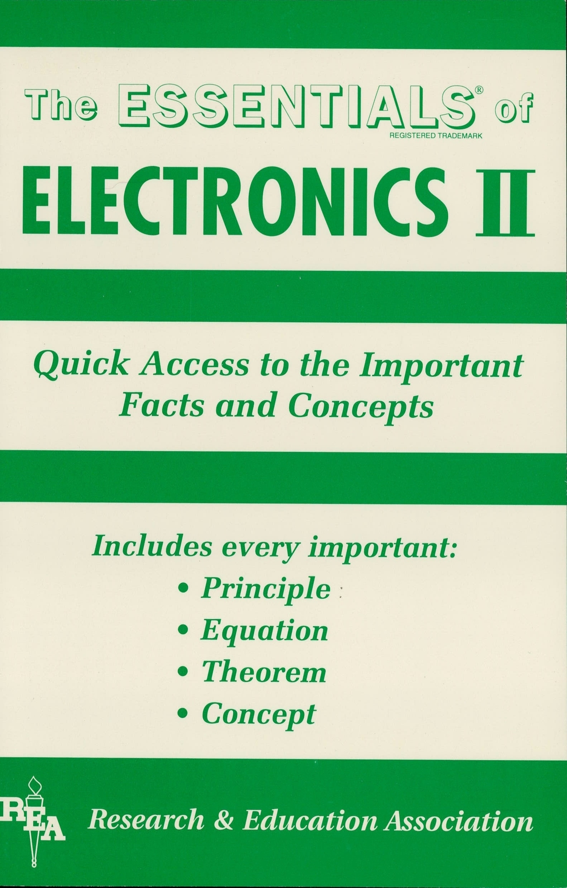 Electronics II Essentials By: The Editors of REA
