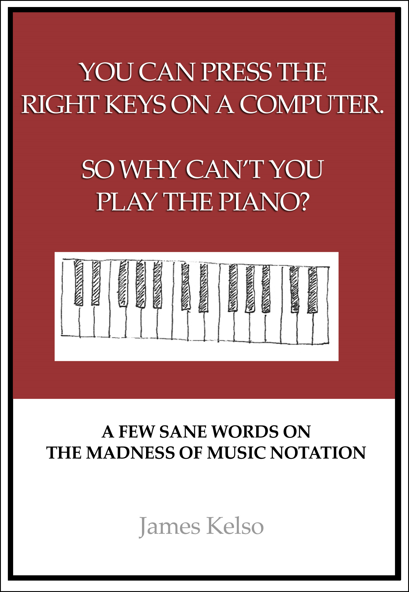 You can press the right keys on a computer. So why cant you play the piano?