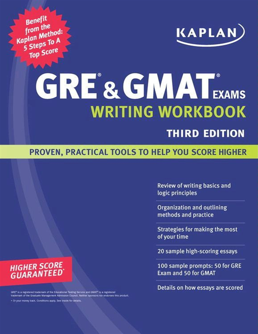 Kaplan GRE & GMAT Exams Writing Workbook By: Kaplan