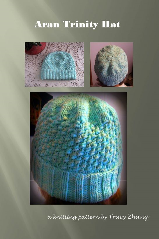 Aran Trinity Hat Knitting Pattern
