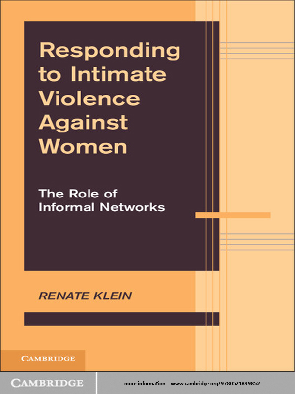 Responding to Intimate Violence Against Women