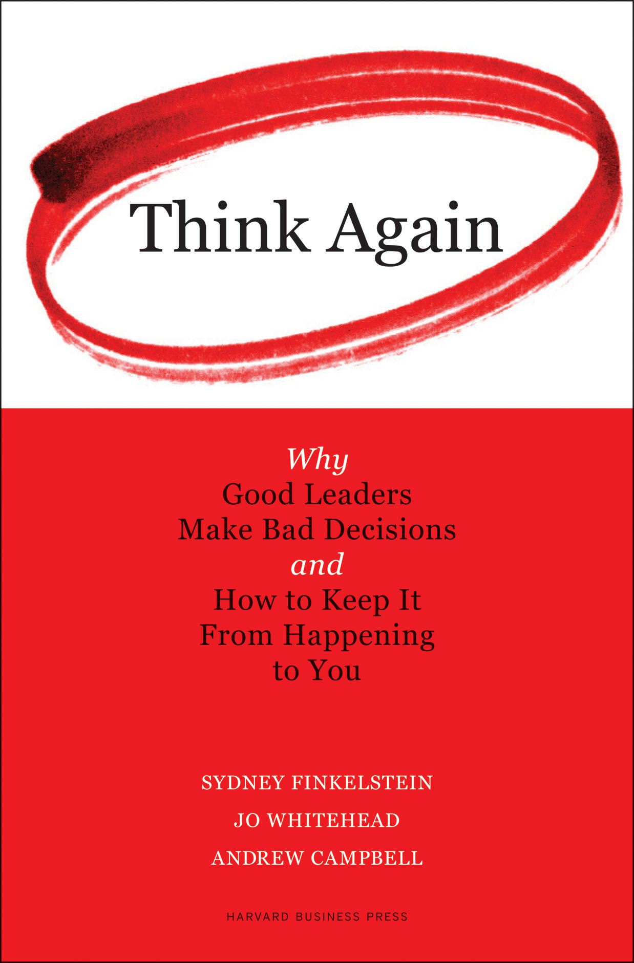 Think Again By: Andrew Campbell,Jo Whitehead,Sydney Finkelstein