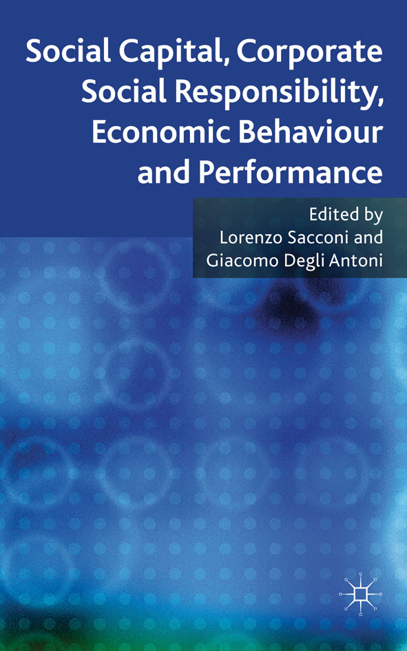 Social Capital,  Corporate Social Responsibility,  Economic Behaviour and Performance
