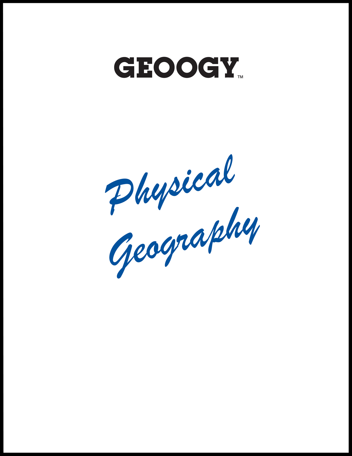 Geoogy Physical Geography
