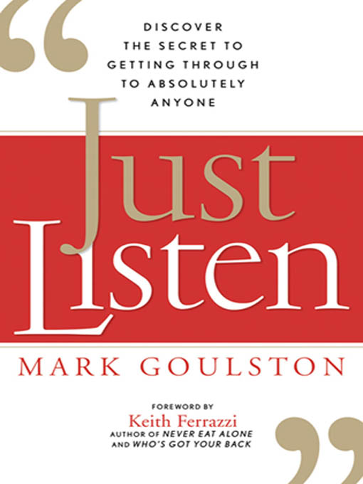 Just Listen By: Mark GOULSTON