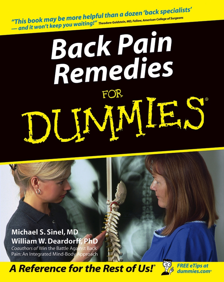 Back Pain Remedies For Dummies By: Michael S. Sinel MD,William W. Deardorff PhD