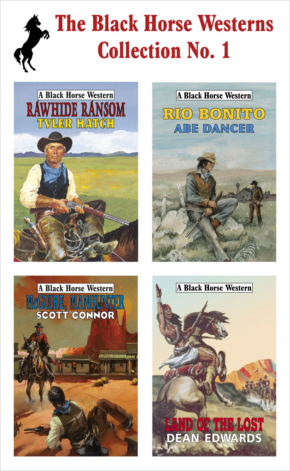 The Black Horse Westerns Collection: Land of the Lost, Rawhide Ransom, McGuire, Manhunter and Rio Bonito