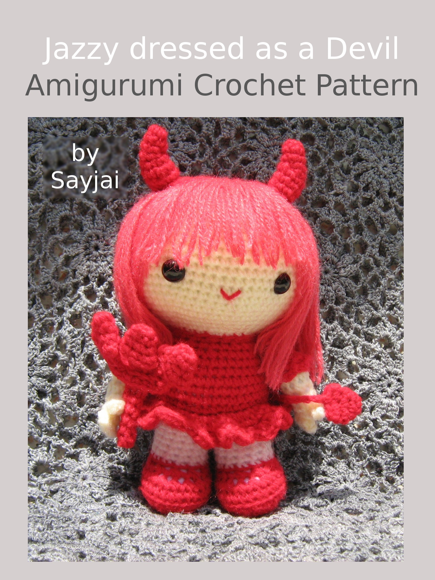 Jazzy dressed as a Devil Amigurumi Crochet Pattern