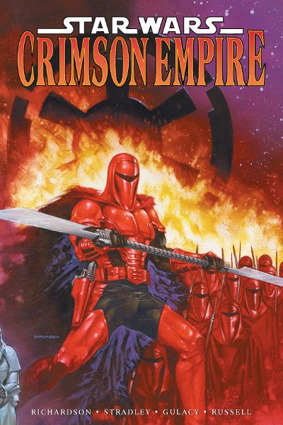 Star Wars: Crimson Empire  By: Mike Richardson, Randy Stradley, Paul Gulacy (Penciller), P. Craig Russell (Inker), Sean Konot (Letterer), Dave Dorman (Cover Artist)