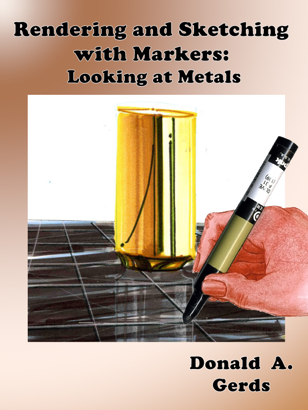 Rendering and Sketching with Markers: Looking at Metals