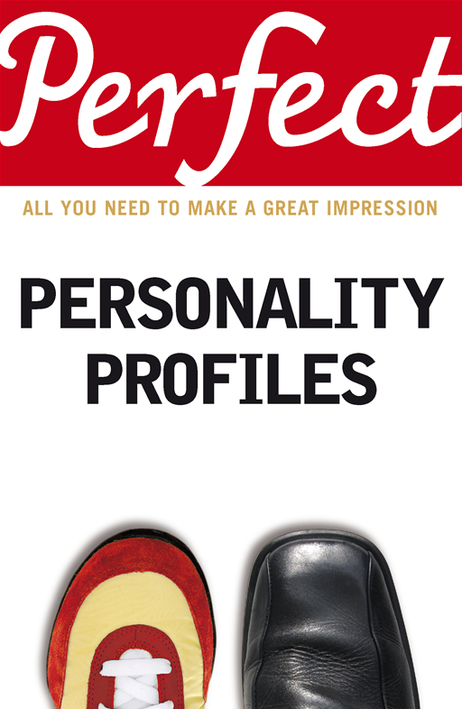 Perfect Personality Profiles By: Dr Helen Baron
