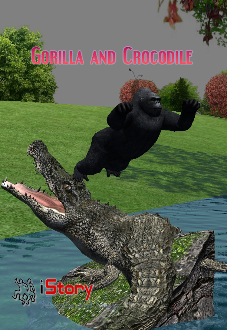 Gorilla And Crocodile