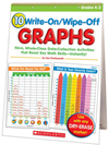 10 Write-On/wipe-Off Graphs Flip Chart: Fill-In, Whole-Class Data-Collection Activities That Boost Key Math Skills-Instantly!