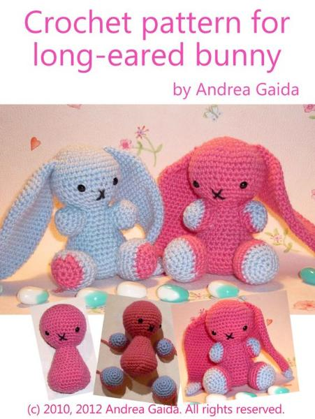 Crochet pattern for long-eared bunny