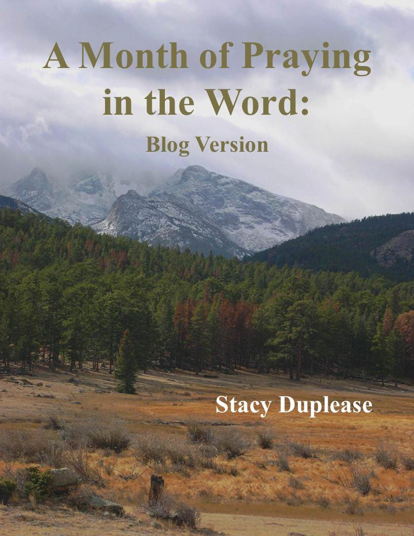 A Month of Praying the Word: Blog Version By: Stacy Duplease