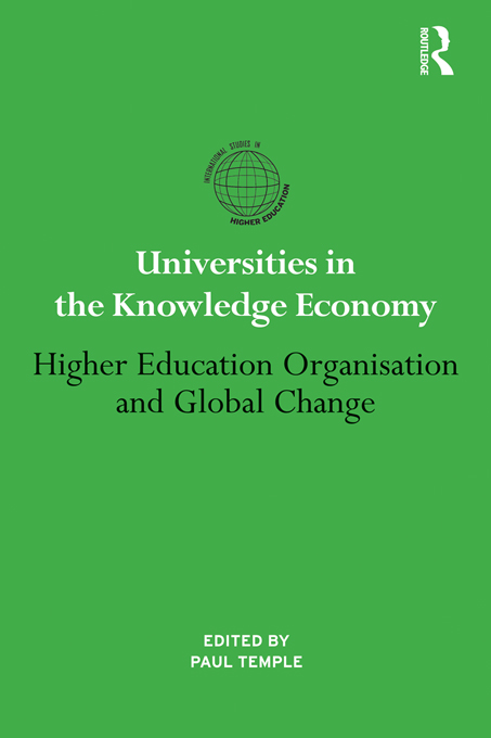 Universities in the Knowledge Economy By: