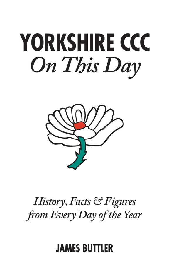 Yorkshire CCC On This Day