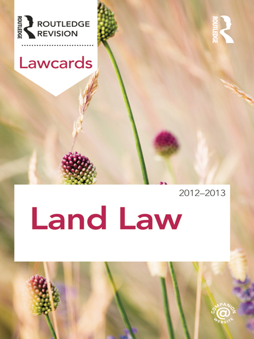 Land Lawcards 2012-2013