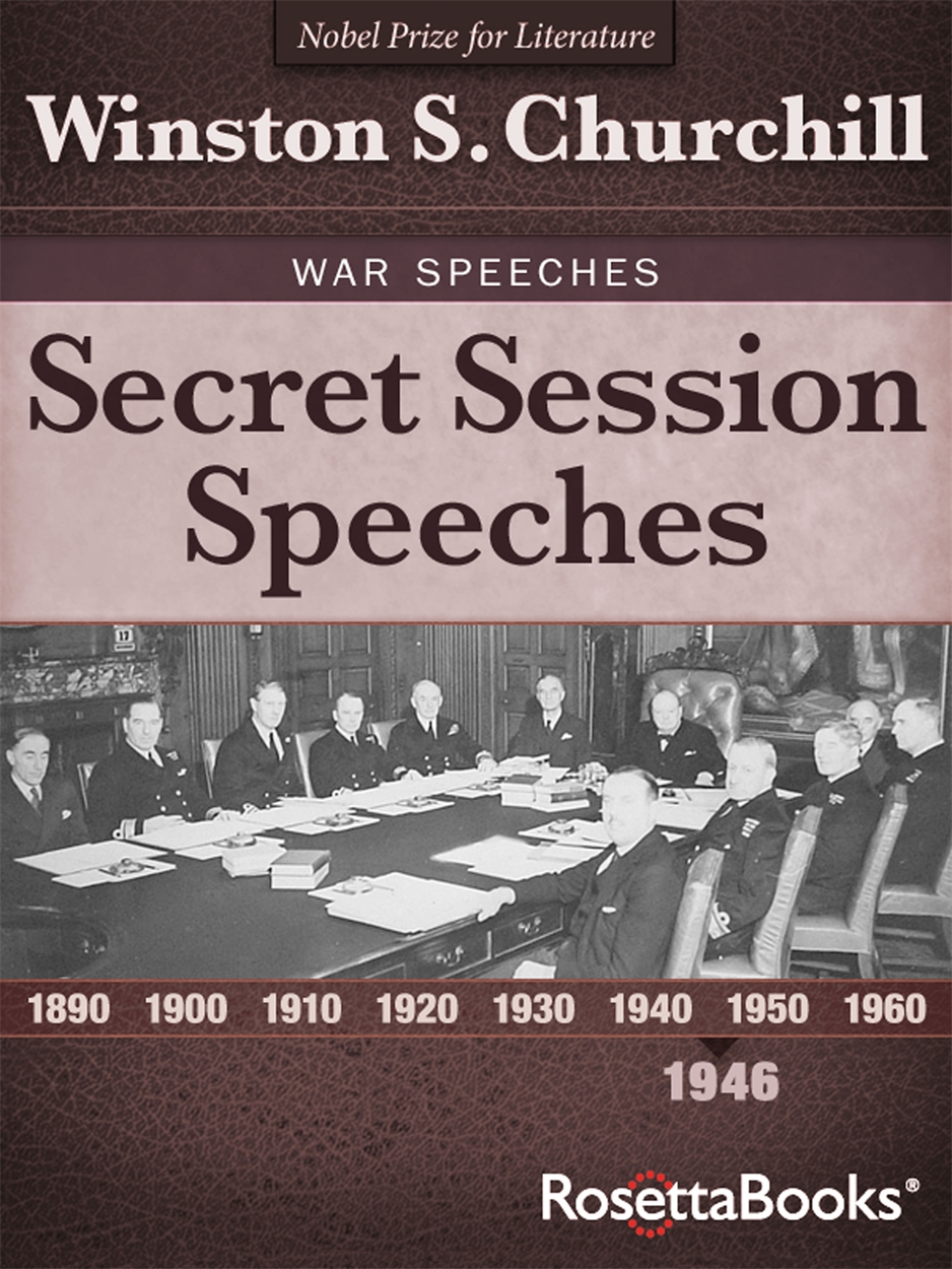 Secret Session Speeches