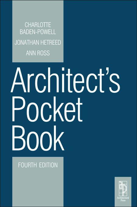 Architect's Pocket Book By: Ann Ross,Jonathan Hetreed