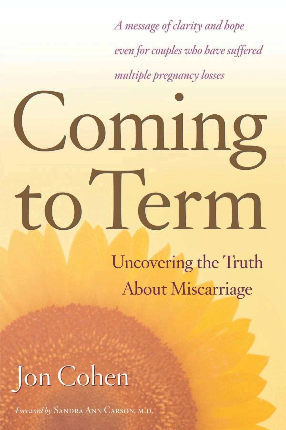 Coming to Term By: Jon Cohen