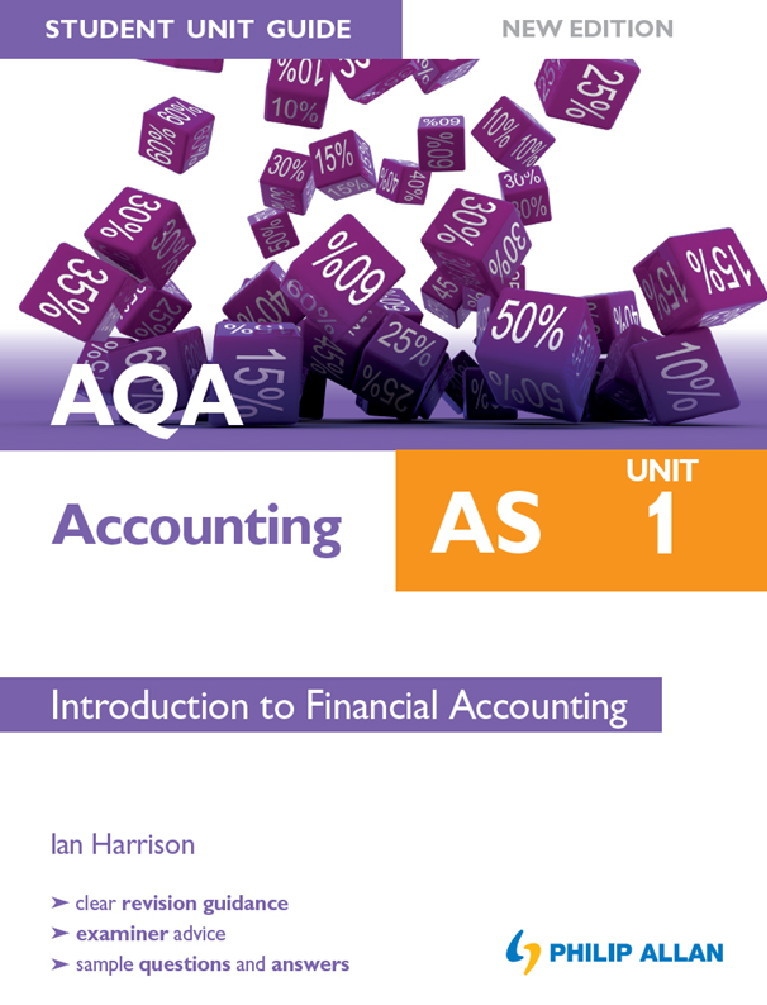 AQA Accounting AS Student Unit Guide: Unit 1 New Edition eBook Introduction to Financial Accounting