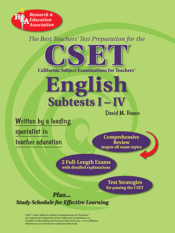 CSET: English Subtests I-IV