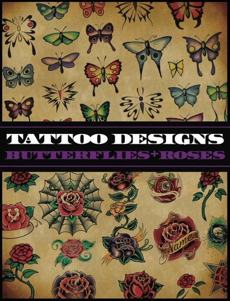 Tattoo Designs: Butterflies & Roses By: Superior Tattoo