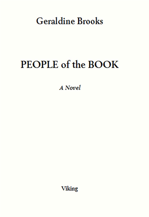 People of the Book: A Novel By: Geraldine Brooks