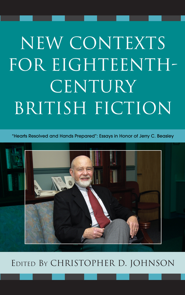 New Contexts for Eighteenth-Century British Fiction