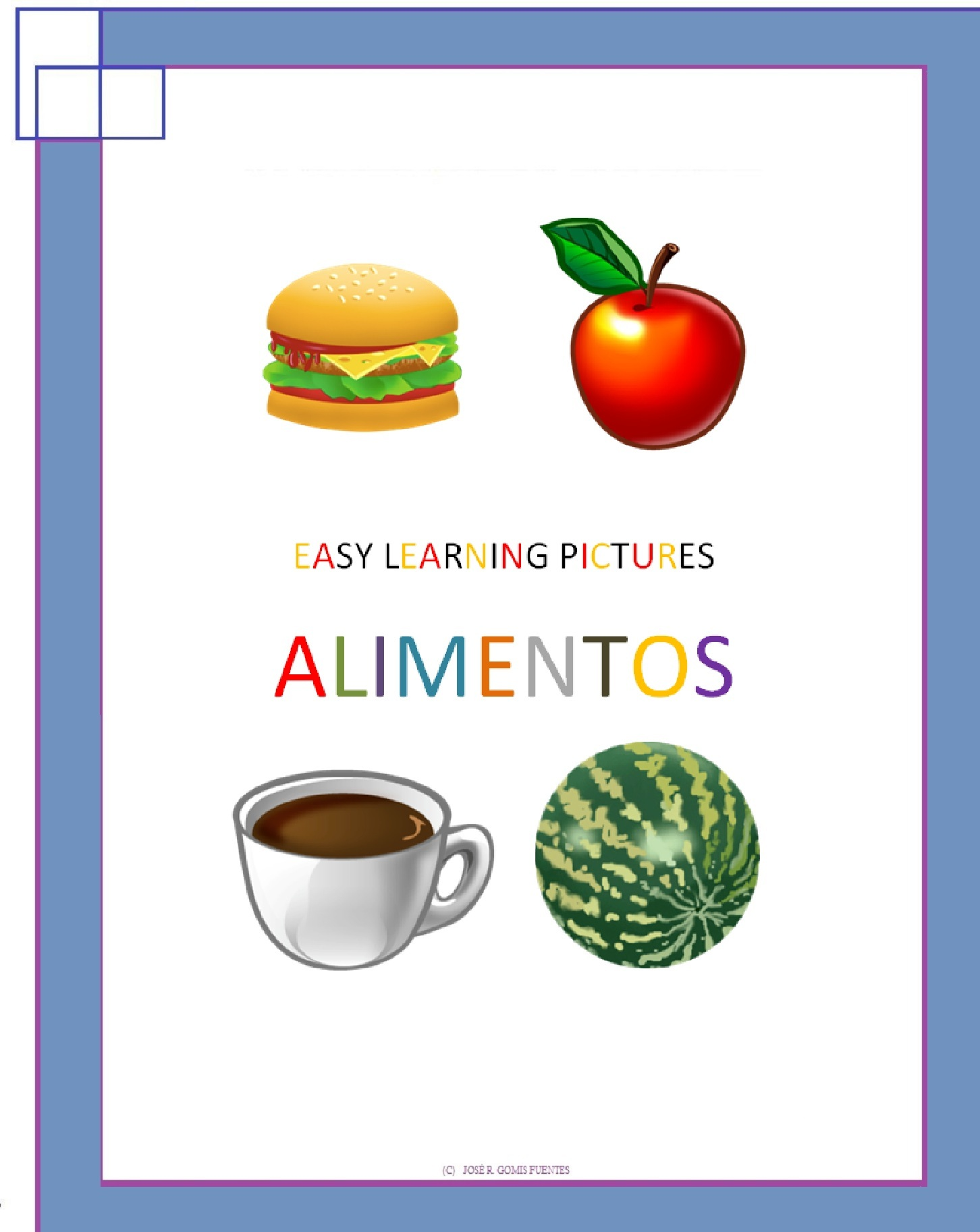 Easy Learning pictures. Alimentos