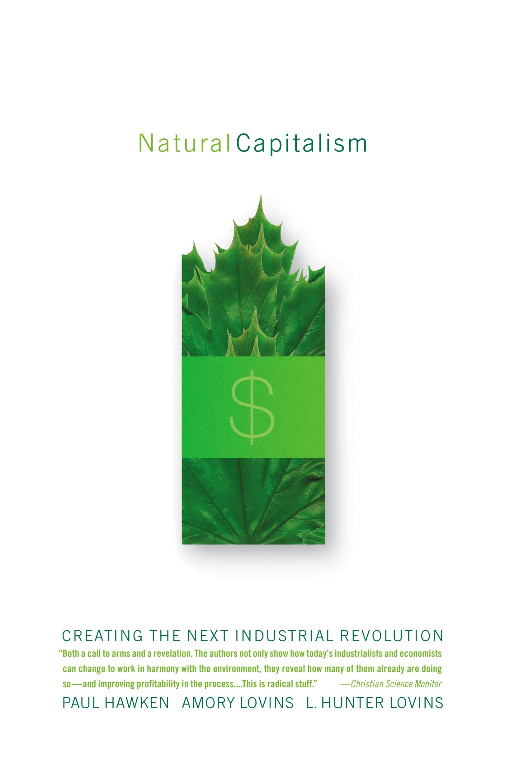 Natural Capitalism By: Amory Lovins,L. Hunter Lovins,Paul Hawken