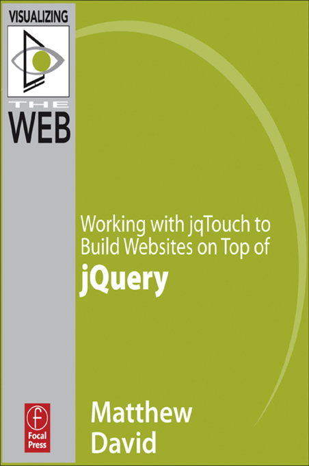 Working with jqTouch to Build Websites on Top of jQuery