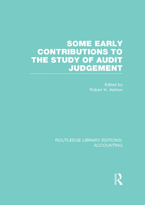 Some Early Contributions to the Study of Audit Judgement