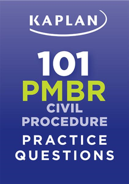 Kaplan 101 PMBR Civil Procedure Practice Questions