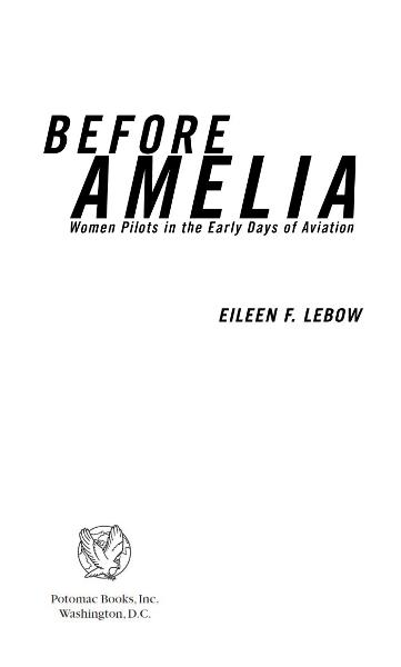 Before Amelia By: Eileen F. Lebow