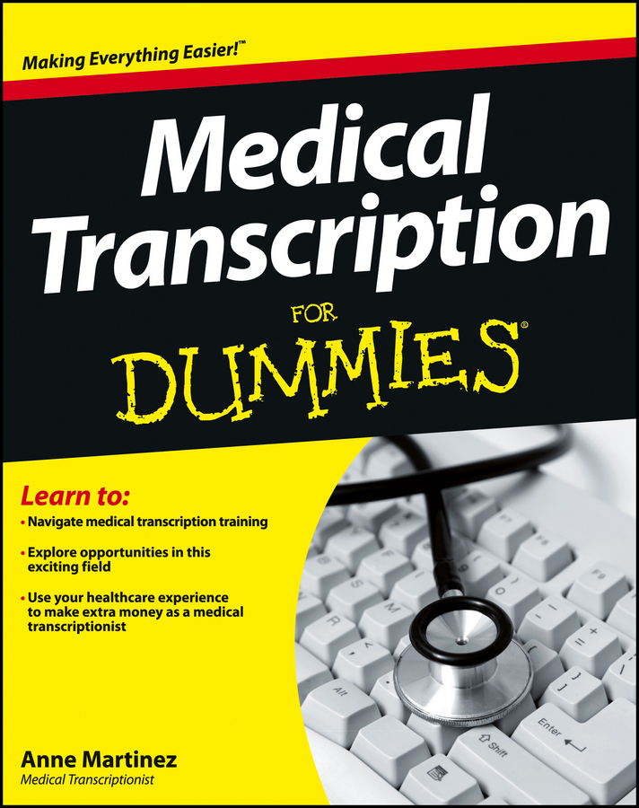 Book Cover: Medical Transcription For Dummies