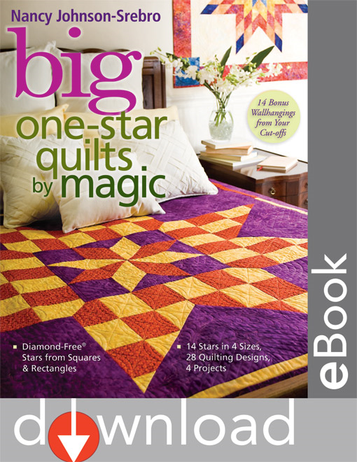 Big One Star Quilts By Magic: Diamond-Free Stars from Squares & Rectangles - 14 Stars in 4 Sizes, 28 Quilting Designs, 4 Projects