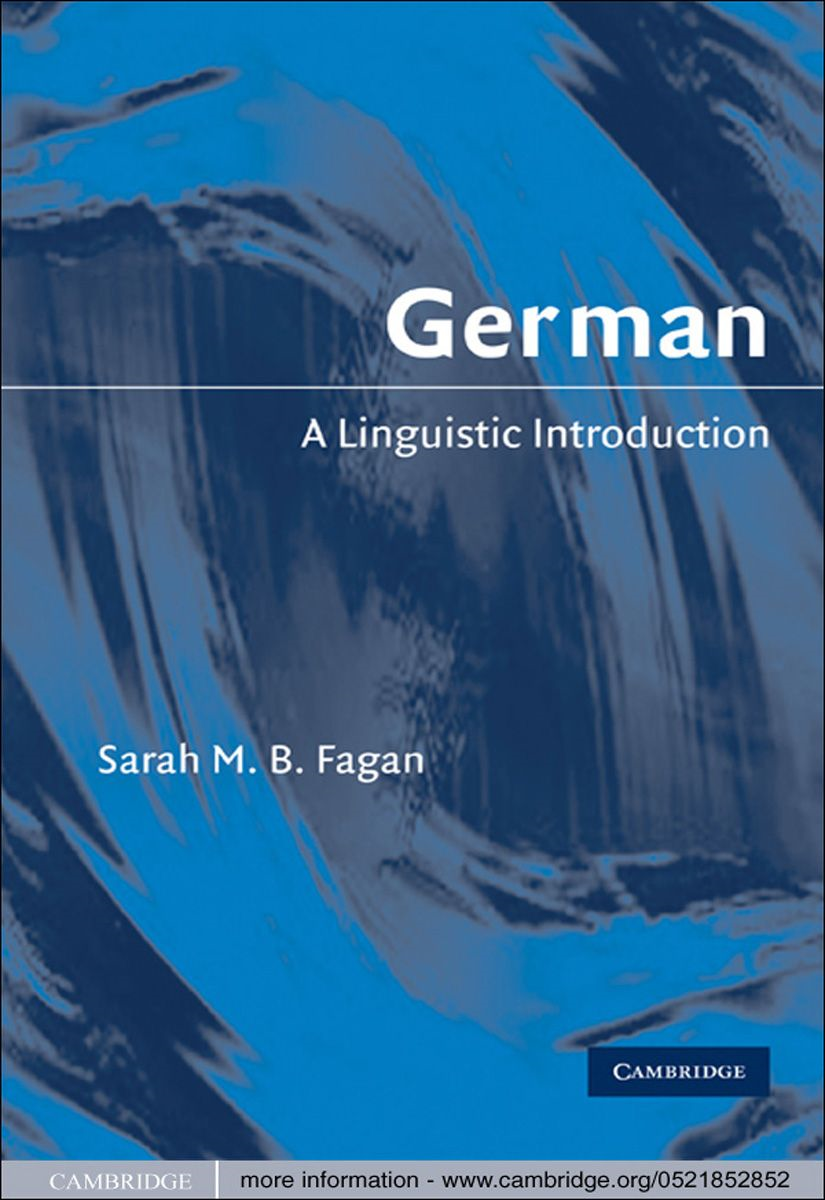 German By: Sarah M. B. Fagan