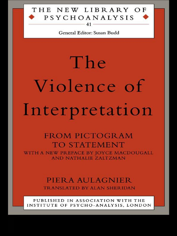 The Violence of Interpretation From Pictogram to Statement