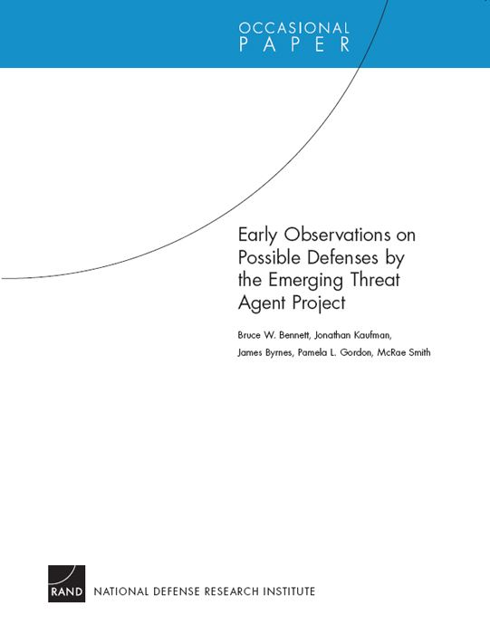 Early Observations on Possible Defenses by the Emerging Threat Agent Project