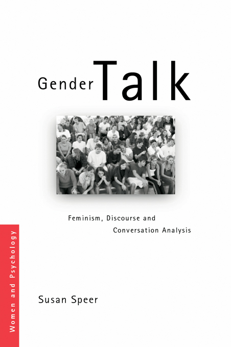 Gender Talk Feminism,  Discourse and Conversation Analysis