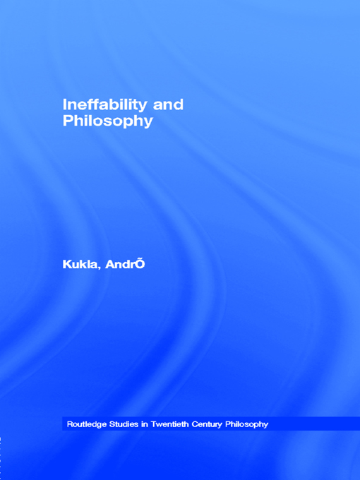 Ineffability and Philosophy