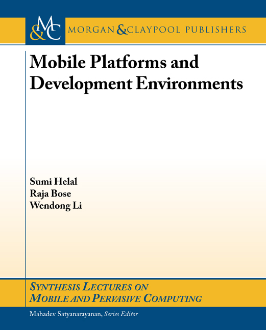 Mobile Platforms and Development Environments