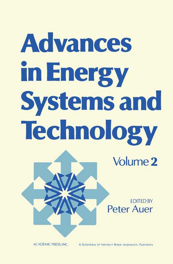 Advances in Energy Systems and Technology Volume 2