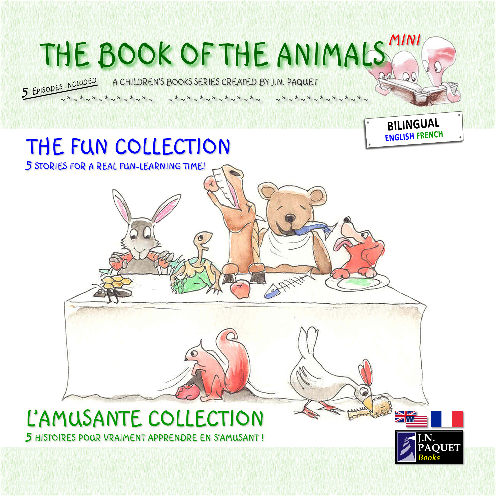 J.N. PAQUET - The Book of The Animals - Mini - The Fun Collection (Bilingual English-French)